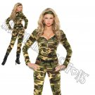 3pc Combat Warrior Military Army Costume - Large
