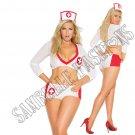 3pc- Sexy Nurse Heart Breaker Lingerie Costume - Queen/Plus Size