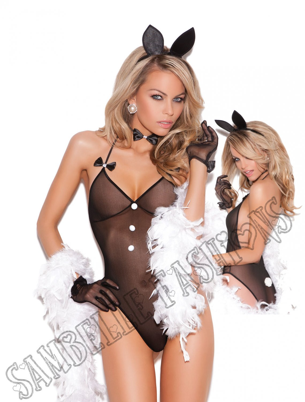 3pc Bunni Love Bunny Rabbit Bedroom/Lingerie Costume - One Size