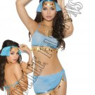 4pc Harem Hottie Belly Dancer Bedroom/Lingerie Costume - One Size