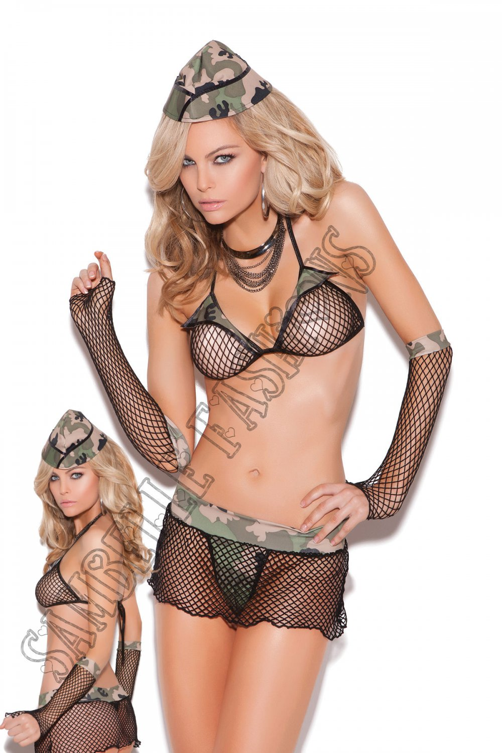 4pc Major Hottie Military Army Bedroom/Lingerie Costume - One Size
