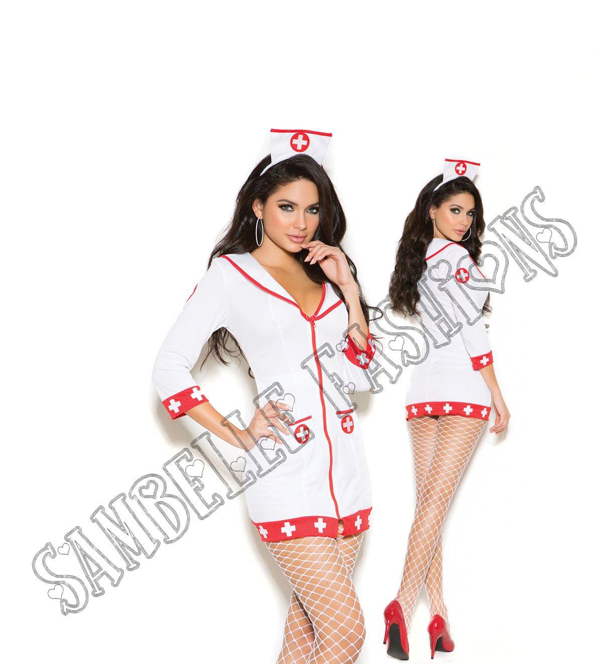 2pc Cardiac Arrest Nurse Costume - Large