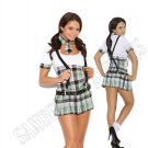 4pc Prep School Priss School Girl Costume - Medium