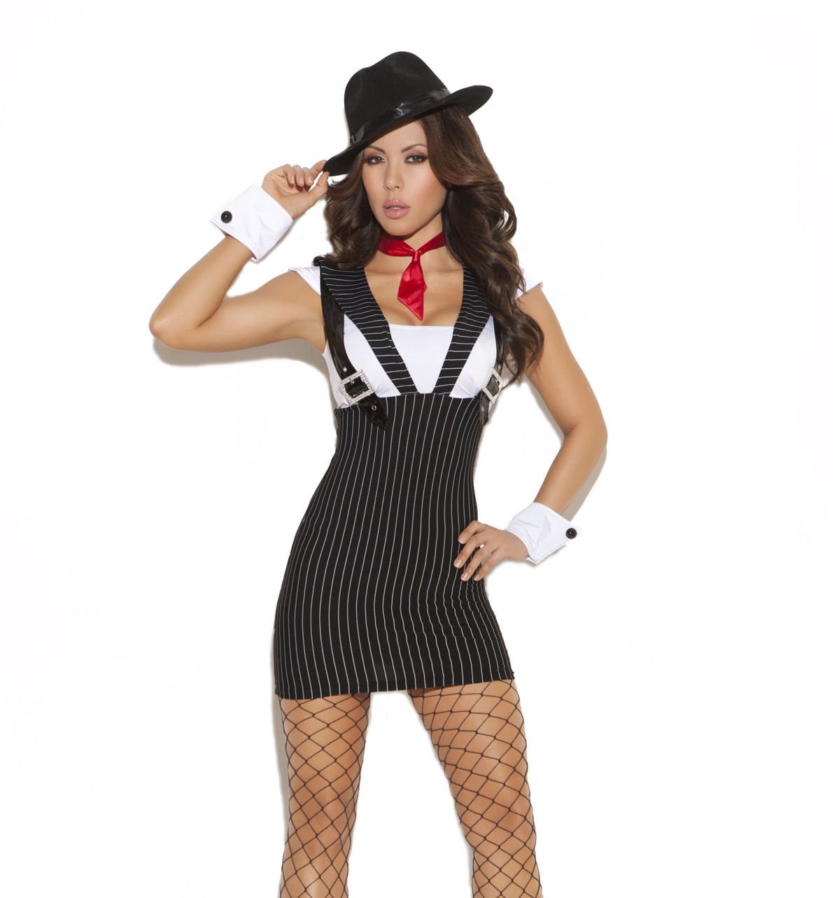 3pc Machine Gun Greta Mafia Gangster Costume - Medium