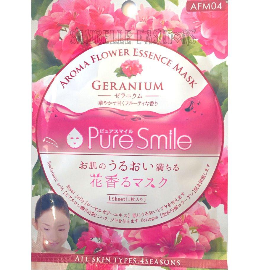 Pure Smile Geranium Essence Face Mask - Aroma Flower Series - 1 sheet