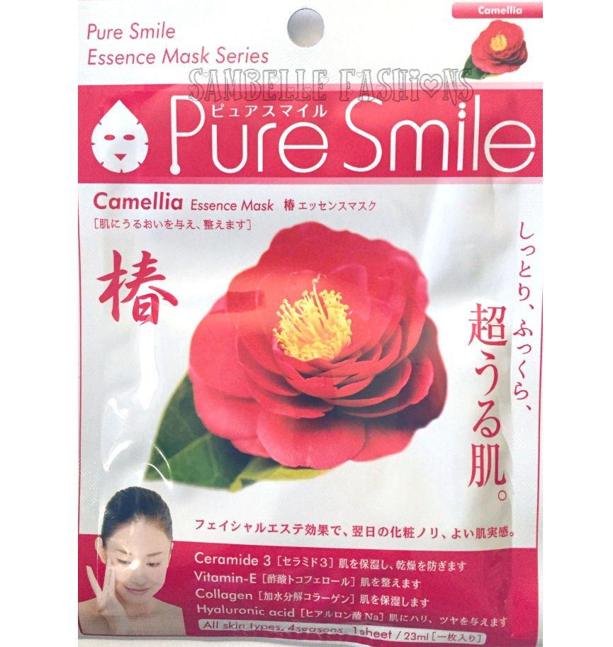 Pure Smile Camellia Tsubaki Essence Face Mask - 1 sheet