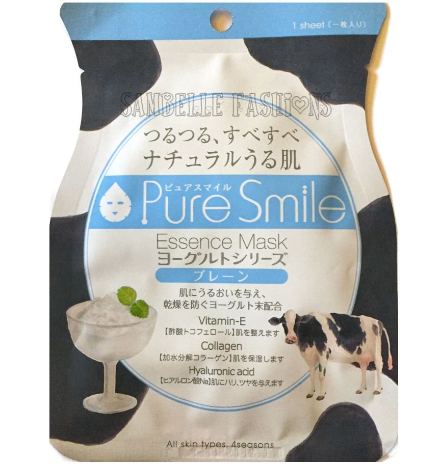 Pure Smile Essence Face Mask - Yogurt Series Plain - 1 sheet