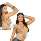 Faux Suede Cami Top w/ Lacing Detail  - X-Large