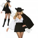 4pc Daring Bandit Zorro Costume - Large
