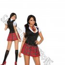 2pc Private Session Schoolgirl  Costume - Small