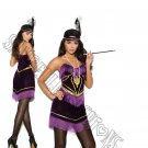 3pc 1920s 20s Foxy Flapper Costume - X-Large