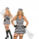 3pc Convict Cutie Prisoner Inmate Costume - 3X/4X