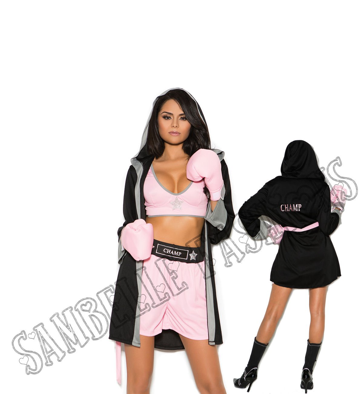 4pc Prizefighter Boxer Costume - Large