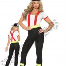 2pc Light My Fire Hero Firefighter Costume - Small