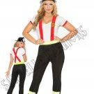 2pc Light My Fire Hero Firefighter Costume - 1X/2X