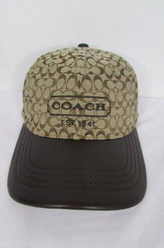 New Coach Men Women Cotton Baseball Cap Fashion Hat Black ... 28906ec4b2ff