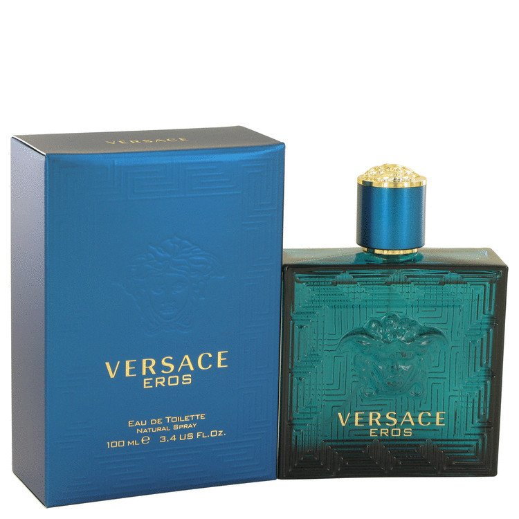 Versace Eros Cologne for Men by Versace (3.4 oz Eau De Toilette Spray)