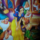 "Vintage Walt Disney Classic Snow White & 7 Dwarfs 16""x12"" Poster 1994 home video"