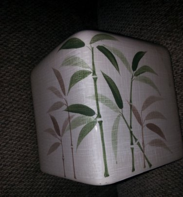 BRAND NEW Tissue Holder Porcelain Ceramic Bath Works Design (Bamboo Garden)