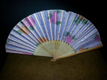 Chinese Fan Vintage Tradition Decorative Silk Handheld Bamboo Folding collection