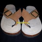 Summer Sandal Flip Flops Flat Footwear no name Brand size B/W 6 -7.5 custom made