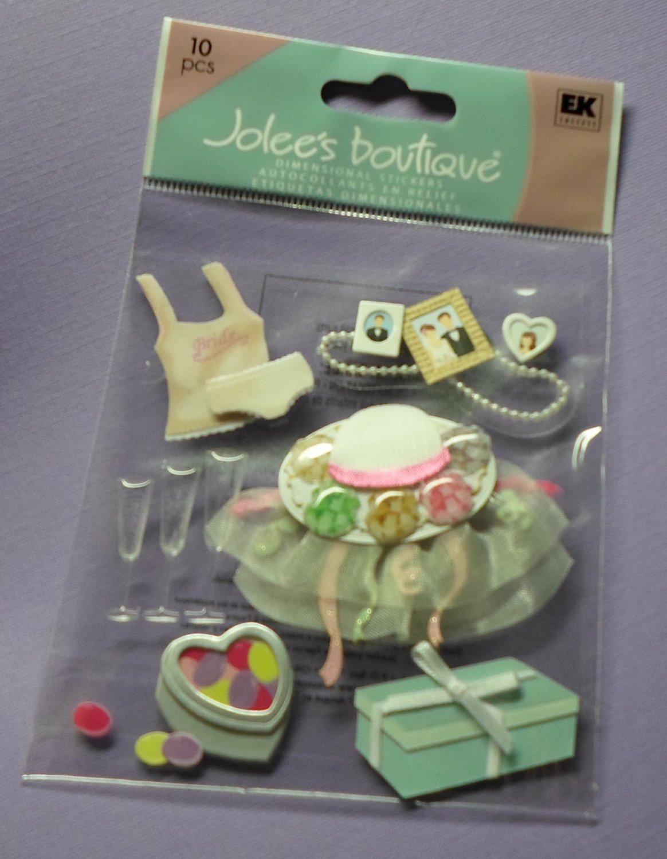 Jolee's Boutique EK Success WEDDING SHOWER Dimensional Stickers Scrapbook Card Embellishment NIP