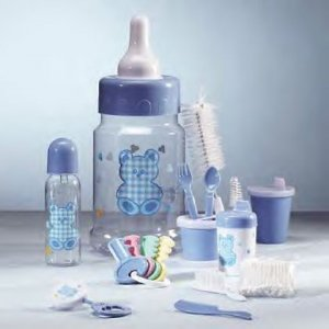 Blue Baby Bottle Bank  IDEM # 34192