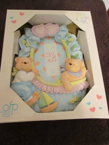 """Teddy Bears 3 1/2"""" x 5"""" Picture Frame"""