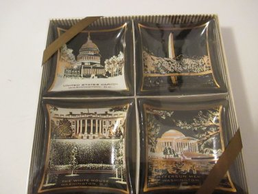 Houze Art Washington Novelty Creation  set of 4 trinket dishes