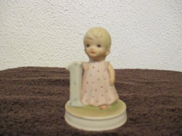 The Christopher Collection 1 year old girl figurine Lefton China