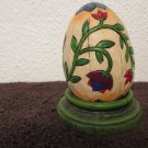 Heartwood Creek Jim Shore Floral egg with wood stand