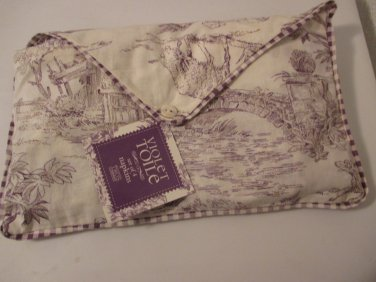 Two's Company Violet Toile set of 4 napkins
