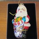 Fabulous Home Holiday Handcrafted glass Santa Ornament