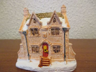A Dickens Christmas Collection Scrooge Home hand painted cold cast cottage