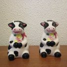 Ceramic Cows Salt and Pepper Shakers