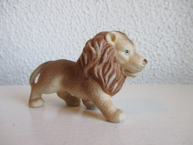 Vintage bisque lion figurine