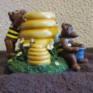 Honey Comb and Bumble Bee Bears Candle Jar Topper