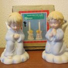 Vintage Praying Angel Bisque taper holders