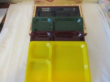Vintage Styron Snack Tray set of 4
