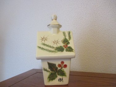 Classic Christmas Ceramic Birdhouse Kathy Hatch