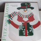 Fitz and Floyd Holiday Snowman canape plate