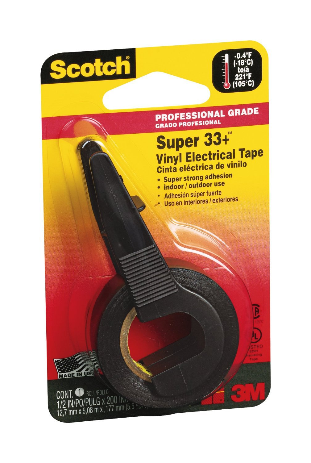 3M 194NA 0.5 by 200-Inch Super 33+ Vinyl Electrical Tape