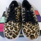 Vlado Footwear Leopard Lace up Shoes Size 7.5 Spectro 3.2 Brown