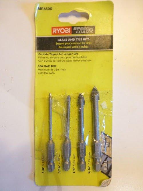 Ryobi AR1650G Hex Shank Glass And Tile Bit Set (4Piece)