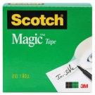 """Scotch Magic Tape Refill, 3/4""""x1000"""", 1"""" Core, Clear"""