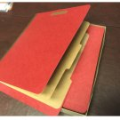 """""""QUILL"""" Letter Size End-Tab Partition Folders 6 Fasteners RED 15/BX 748030"""
