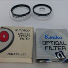 Lot of 2 Kenko 52mm center focus optical filter and Toko 52mm duto filter