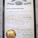 George Pardee California Governor - Signed 1906 Executive Department Document