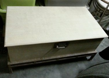 Storage Chest / Coffee Table / Trunk w latch for lock Wood & Metal