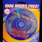 AMERICA ONLINE ~ AOL ~ the year 2000 CD Disk Promo 1000 hours free VINTAGE NEW